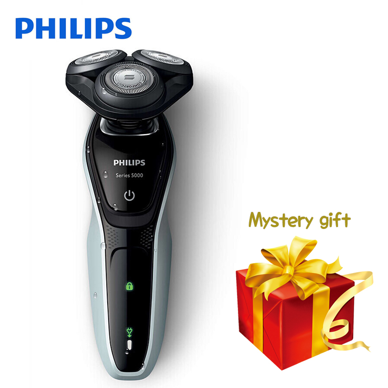 все цены на 100% Original Philips Electric Shaver S5080 Rotary Rechargeable Washable Wet&Dry Electric Razor With 3D Floating Heads For Men онлайн
