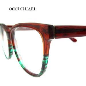 Image 5 - OCCI CHIARI High Quality Fashion Eyeglasses Brand Design Eyewear HandMade Glasses Frame Women Acetate avant gard Gift MELATTI