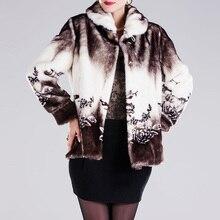 faux fur jacketWinter autumn warm Fake Fur Plus Size Women CoatHigh quality printed floral faux-fur-coats women fox basic coats