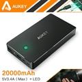 Aukey 20000 мАч Быстрой Зарядки Питания Банк С Dual USB Портативный внешний Блок Батарей Для iPhone 7 Plus Смартфон Samsung LG