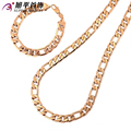 Xuping Fashion Jewelry Sets High Quality African European Style Rose Gold Color Plated Bracelet Necklace Jewelry Gift S27-62667