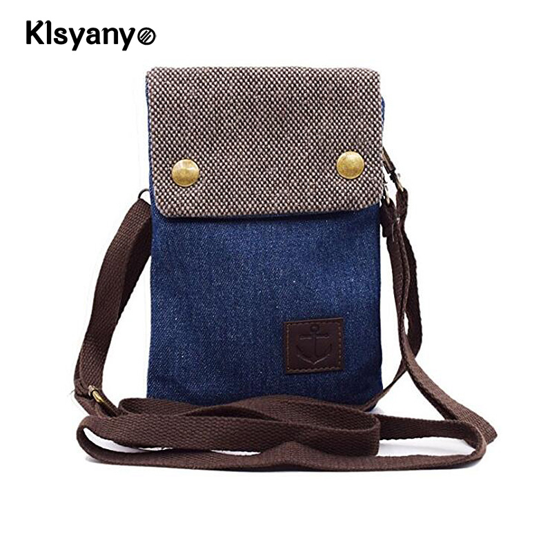 Klsyanyo Women Girl Canvas Small Cute Crossbody Shoulder Purse Messenger Bag with Shoulder Strap for Smart Phone,Keys ,Wallet