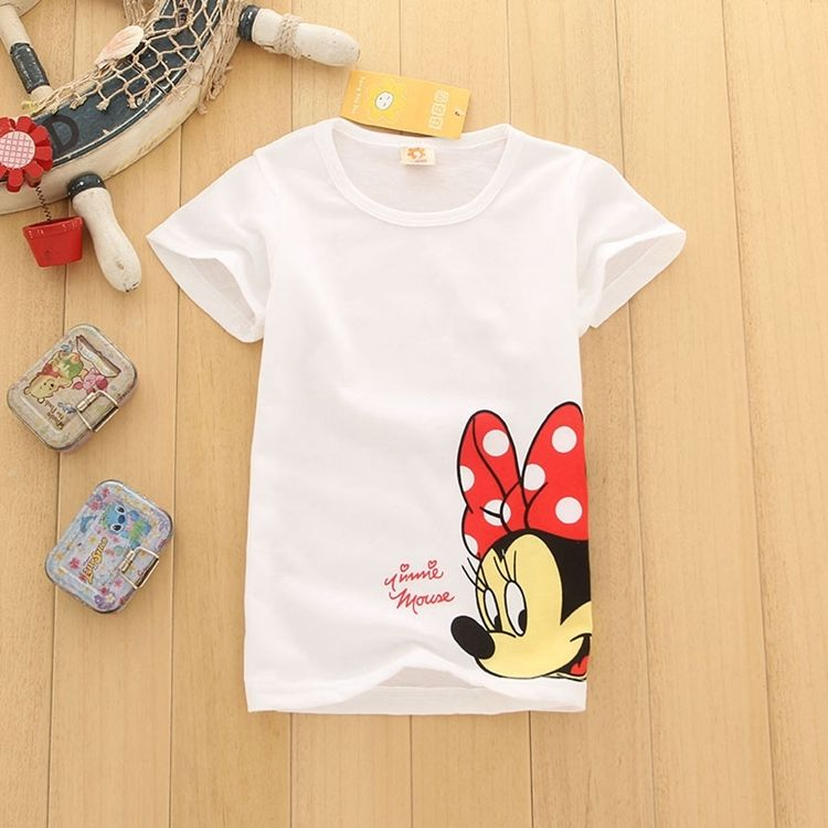 2018 Hotsale Cheap Summer Kids Baby Girls Clothes Short Sleeve Cotton T-shirt Children Toddler Cartoon Mouse Boy Girl Tops Tees yilaku summer children t shirt brand baby boy girl cartoon tops kid toddler short sleeve t shirts unisex kids clothing cg261