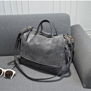 2016 Новое поступление Для женщин сумка нубук Винтаж сумка мотоцикл Сумки на плечо Для женщин сумка