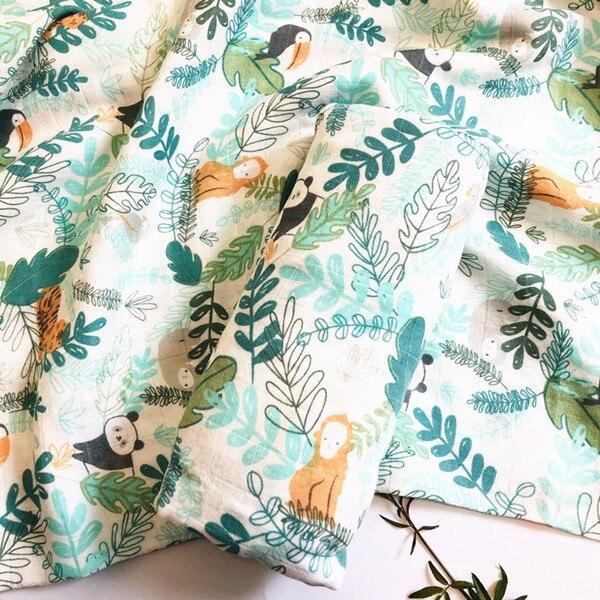 70% бамбуковое детское муслиновое одеяло для пеленания, качество лучше, чем Aden Anais, детское Многофункциональное большое одеяло для пеленок, детское одеяло - Цвет: ZM panda
