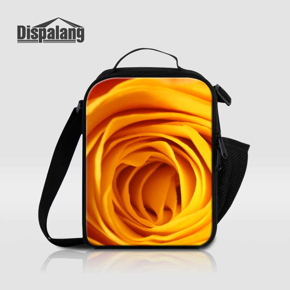 Dispalang Flower Pattern Insulated Lunch Bags For Women Work Kids Small Food Storage Lunch Box Girls Cooler Bag Thermo Lancheira