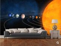 Custom Children Wallpaper Complete Solar System Cartoon Murals For Children S Rooms Park Living Room Wall