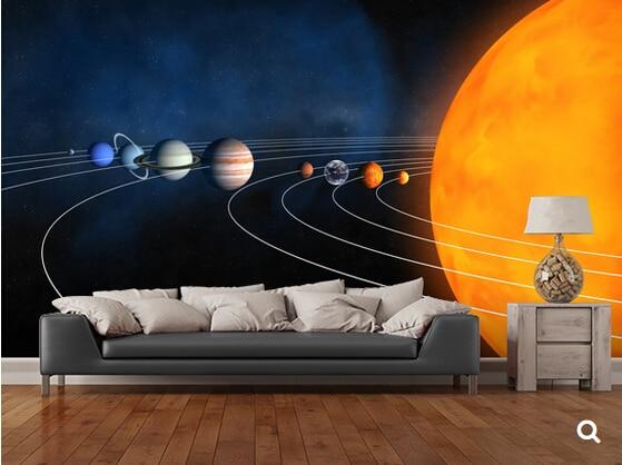 Personalizzato bambini carta da parati sistema solare completo