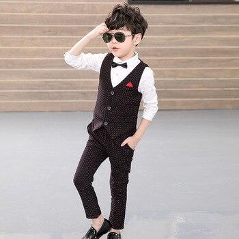 3c943f83c 2019 nuevo diseño 2 piezas (chaleco + Pantalones) los niños traje de la  boda de Inglaterra estilo suave Formal de los muchachos ...