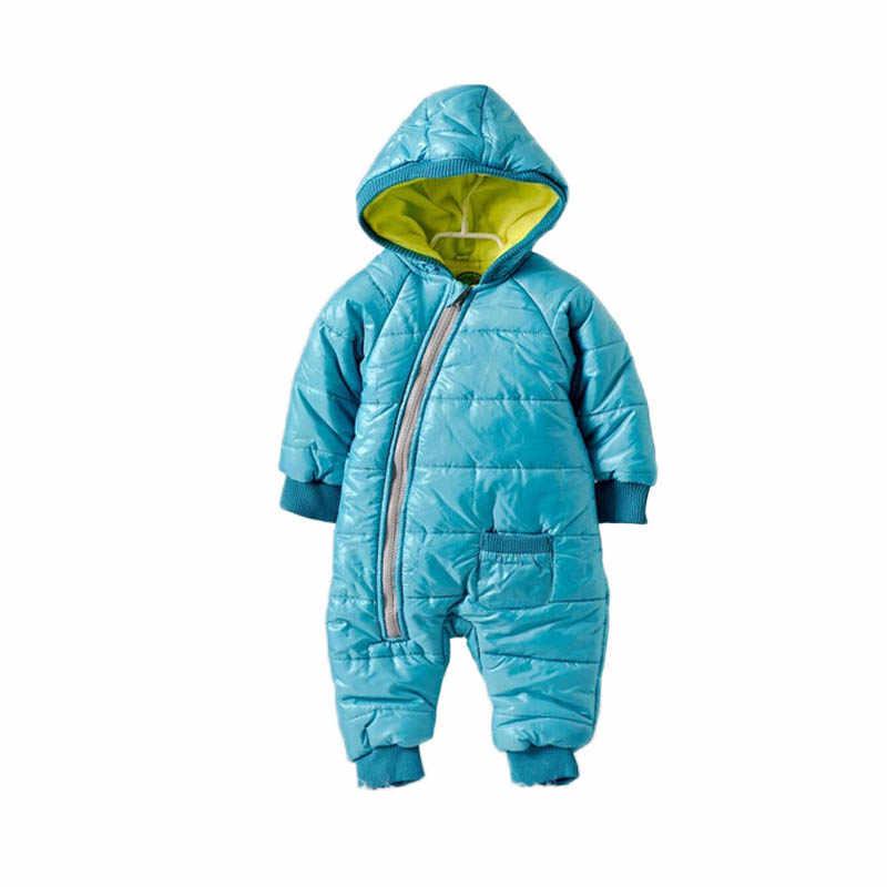 Высококачественные детские комбинезоны; Зимний толстый хлопковый костюм для мальчиков; теплая одежда для девочек; Детский комбинезон; Верхняя одежда для детей; одежда для малышей