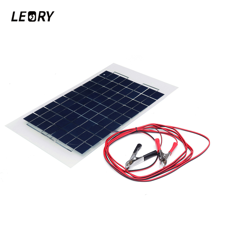 10W Solar Panel Mono Module With 3M Cable Blocking Diode,Alligator Clips