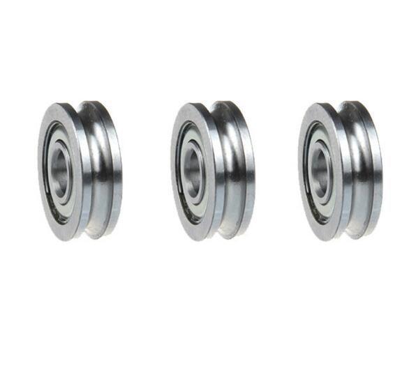 Free shipping 10pcs U604ZZ SZU4-13 604UU U groove deep groove ball bearing 4x13x4mm Walking guide rail bearings for 3D printer