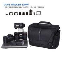 Benro CoolWalker Pro CW S100 tek omuz profesyonel kamera çantası slr kamera çantası yağmur kapağı