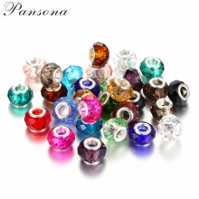 10pcs Murano Faceted Glass Beads European Charms Spacer Loose Beads Fit European Bracelet Necklace