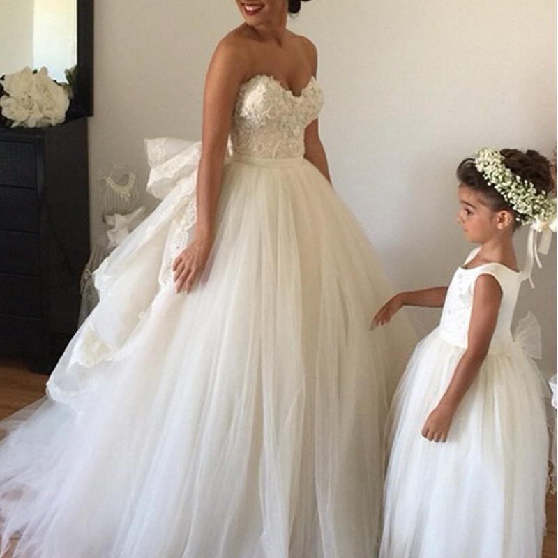 Vestido De Madrinha De Casamento Tulle Sweetheart Ball Gown Floor Length Appliques Puffy Tiers Bridal Gowns   bridesmaid     dresses