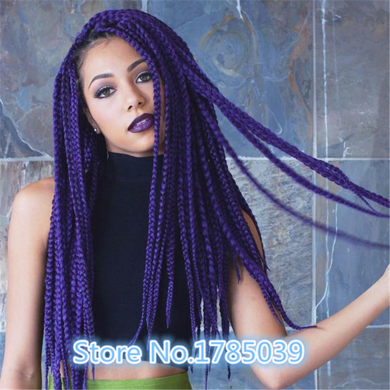 Black And Blue Box Braids - Braids