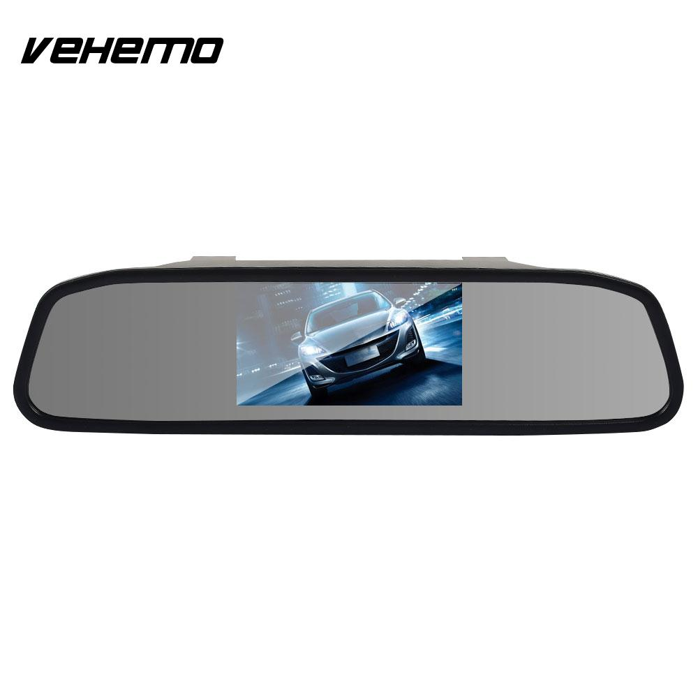 VEHEMO Cars DC12V Rearview Mirror Display Car Rearview Mirror Interior Display Vehicle Durable Reversing Display