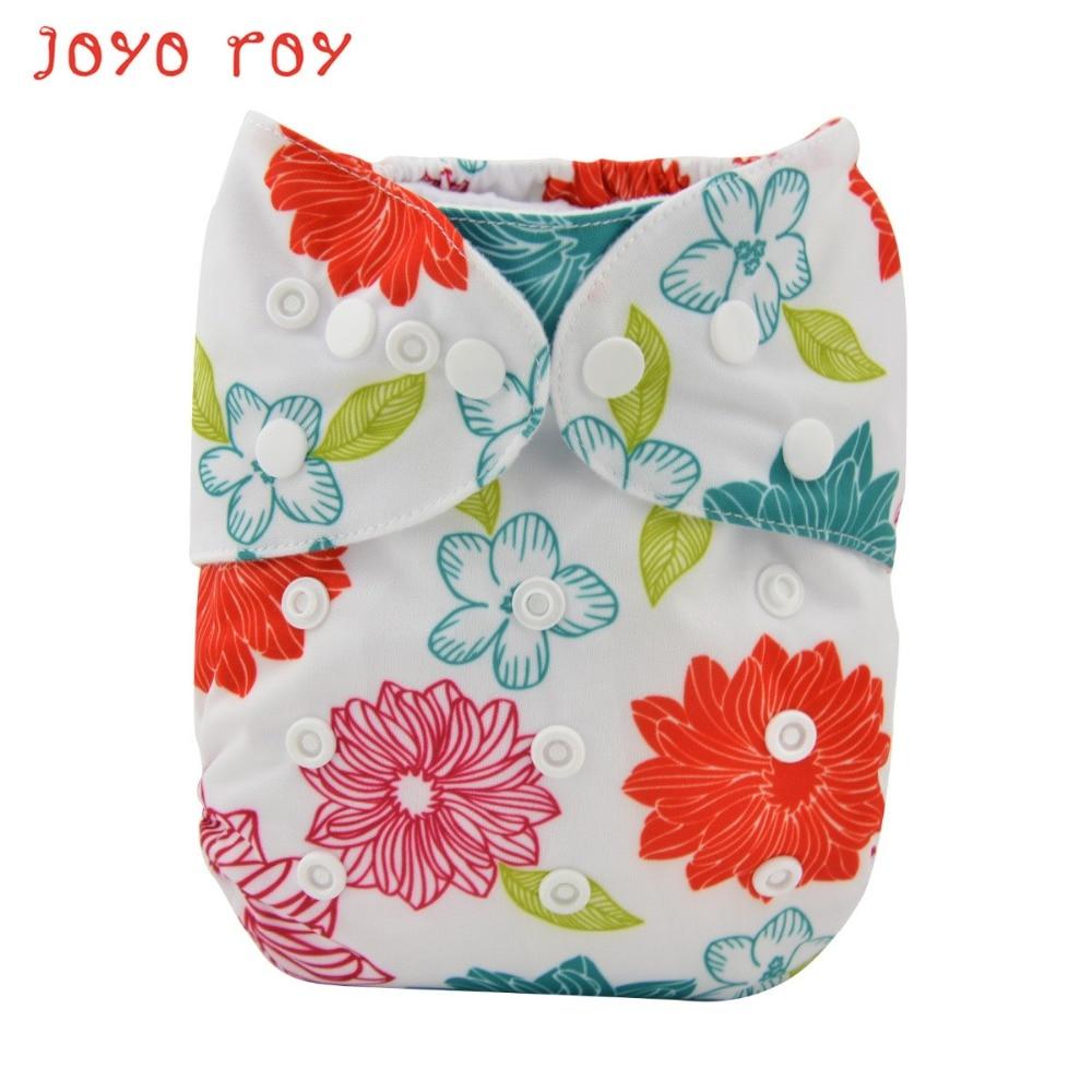 Joyo Roy Washable Diapers Digital Printing Diaper Pants Adjustable Baby Waterproof Leakproof Breathable Cloth DiapersR