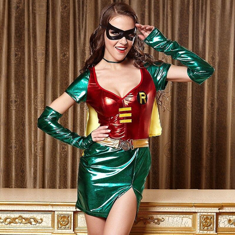 a buon mercato autentico l'atteggiamento migliore US $22.26 |Robin del Costume Sexy Della Ragazza Ragazze di Età Robin  Costume per Halloween Batman Coppia Costume Sexy Robin Costume per Le Donne  in ...
