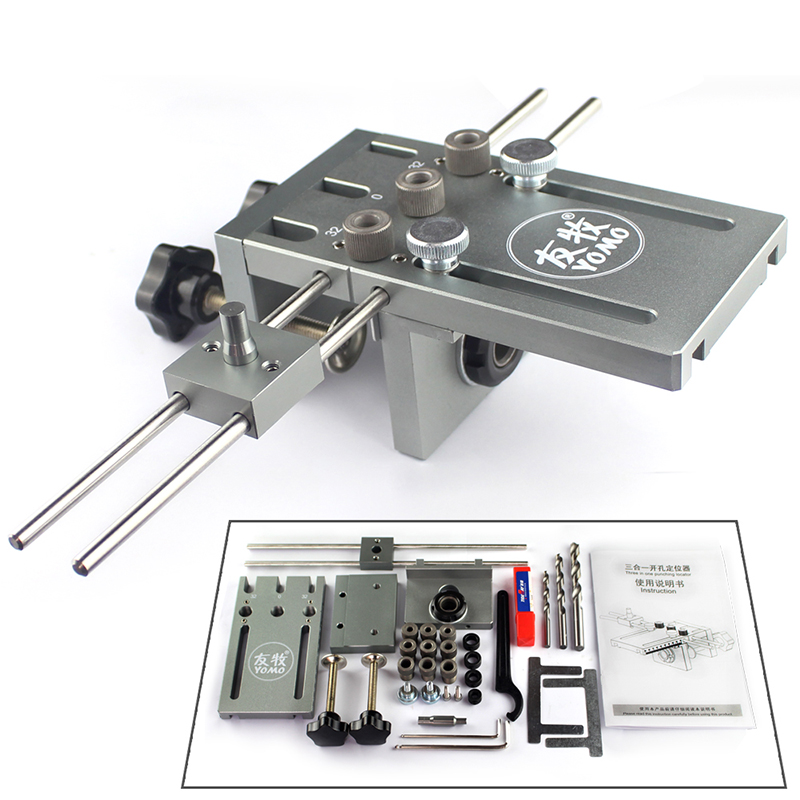 free shipping Dowelling Jig for Furniture Fast Connecting 3 In 1 Woodworking Drill locator for punching Квадрокоптер