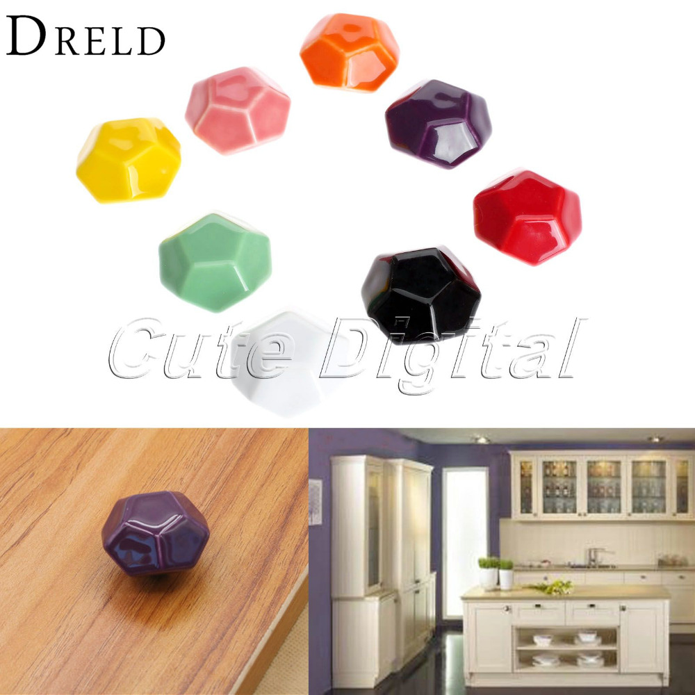 Wholesale Ceramics Cupboard Handles Drawer Knobs Cabinet Door Pull Handle Furniture Decor Vintage Furniture Knobs and Handle luxury gold czech crystal round cabinet door knobs and handles furnitures cupboard wardrobe drawer pull handle