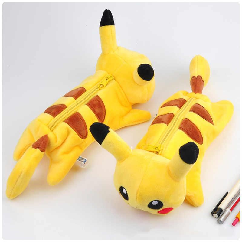Bts Pokemon Pikachu De Pelúcia Kawaii caixa de lápis Dos Desenhos Animados saco do lápis para as crianças toy presente Coreano papelaria bolsa escola Escritório suprimentos