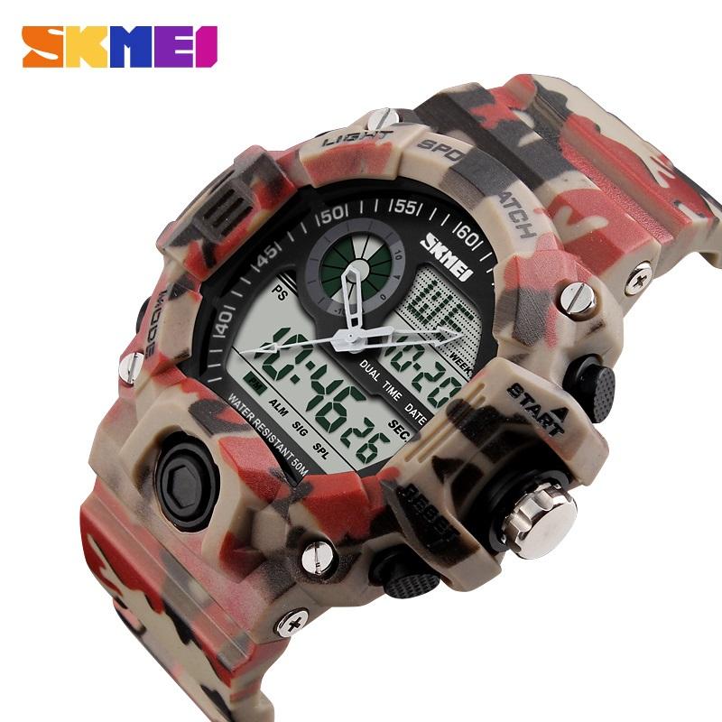 Prix pour 2016 Style Camo Led Numérique Montre De Mode Sport Montres Hommes Marque De Luxe Skmei Militaire Armée Quartz Montre Hommes montre-bracelet Reloj