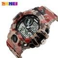 2016 estilo camo digital led reloj del deporte de la moda relojes hombres lujo de la marca skmei militar del ejército reloj de cuarzo hombres reloj de pulsera reloj