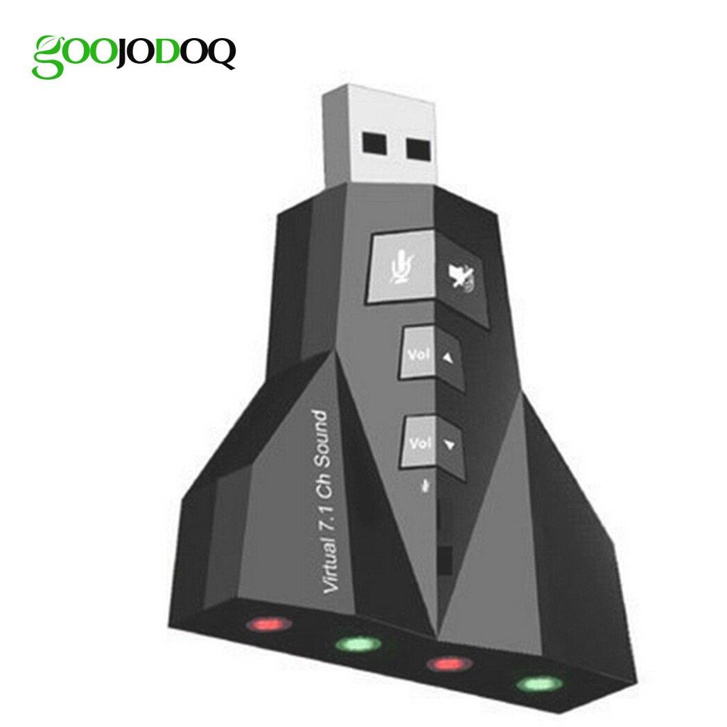 100 pz Virtuale 7.1 USB Scheda Audio Esterna USB Audio Doppio Adaprter Jack Da 3.5mm Auricolare Micphone per Computer Notebook Win Mac
