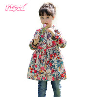 New Arrivals (Only left 3Y 4Y 5Y 6Y)Autumn Girls Flower Overcoat Cotton Printed Children Girl Outerwear Child Clothes OC80718-1