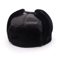 New Arrival Leather Cap Elder Men S Winter Sheepskin Hat Father Thick Warm Ear Protection Hat