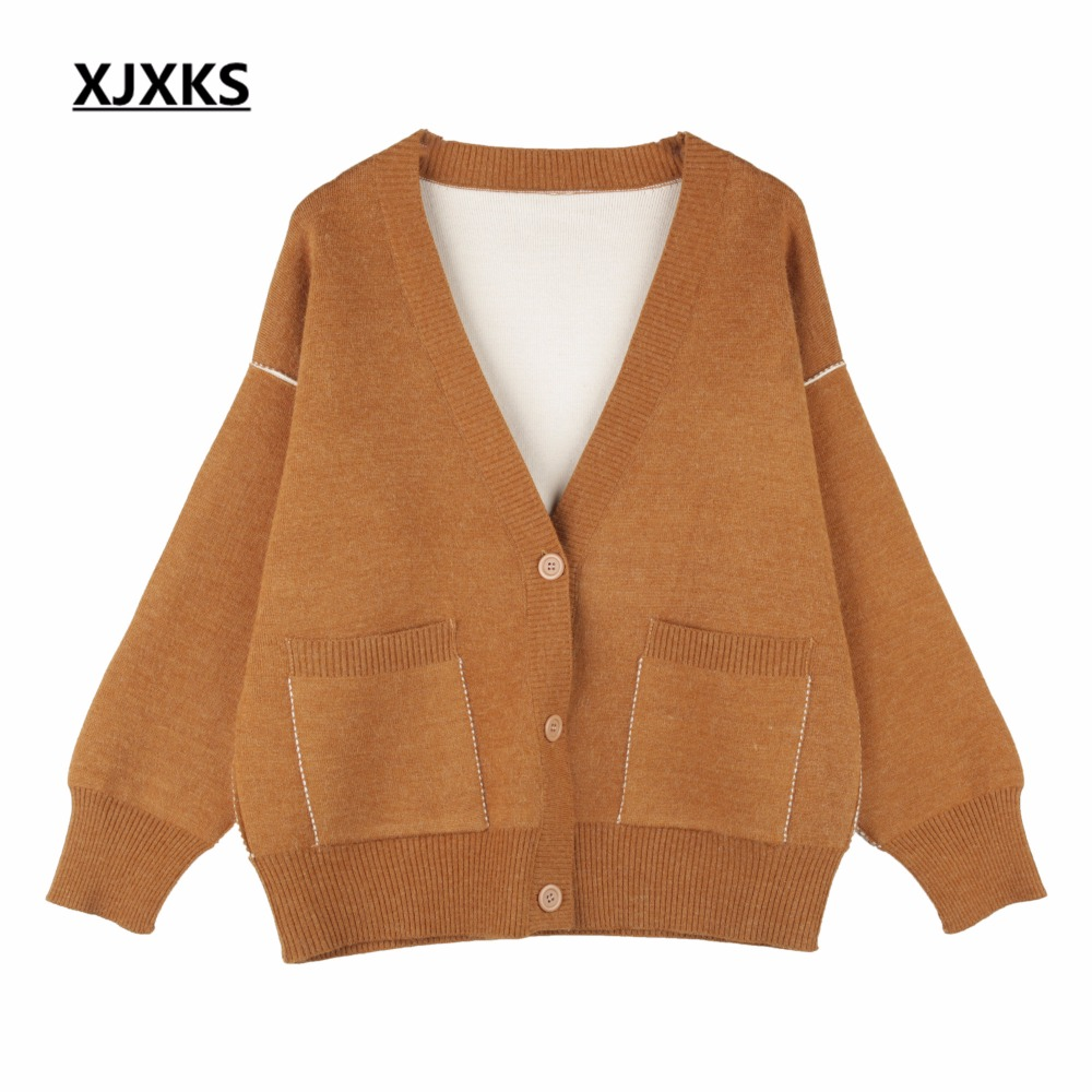 XJXKS Single Breasted Comfortable Fabrics Women Cardigans Sweaters ...