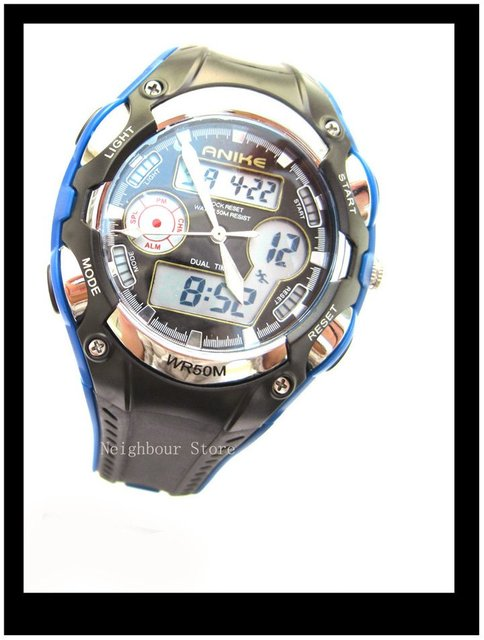 2011 new dual time sports digital watch gift for men, 5 colors for selection,  retail and whole hot sale free shipping(NBA9132M)