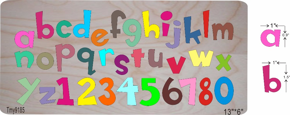 Color alphabet suit 2 DIY new wooden mould cutting dies for scrapbooking Thickness 15 8mm Tmy9185
