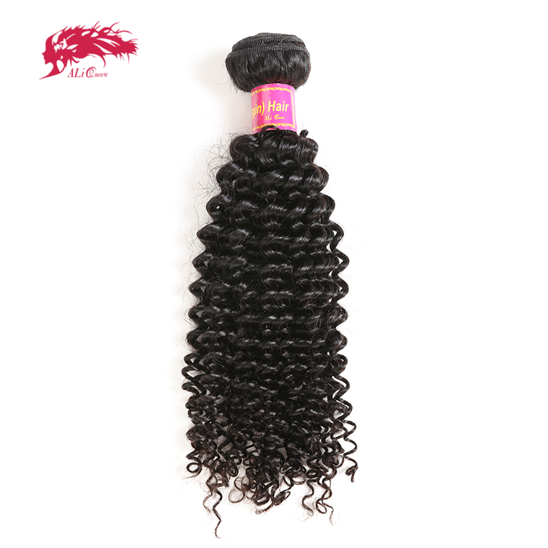 Ali Queen Hair Mongolian Afro Kinky Curly 10A Virgin Hair Natural Color 100% Human Hair Bundles 1/3/4 Pcs With Free Shipping
