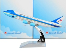 United States Air force one B747-200 Airlines plane model 16cm Men's Toy Birthday Christmas gift Metal