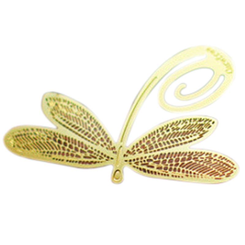 Office & School Supplies 100% True Bookmark Gold Dragonfly Sheet Metal Gift Souvenir Book Reading Bookmark