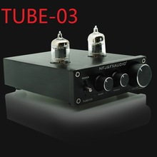 2017 FX-Audio Nuevo TUBE-03 Mini Audio Tube Pre-amps DAC Audio Con Bajo / Agudo DC12V / 1.5A Fuente de alimentación ajustable