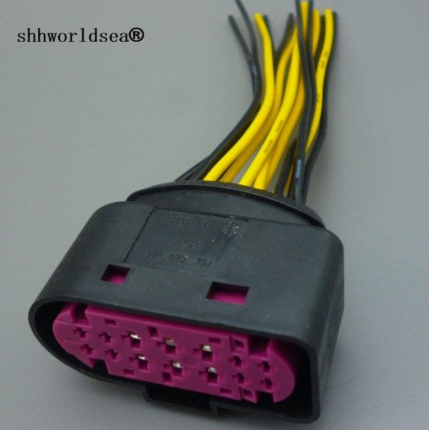 Audi VW xenon headlight 14pin Plug Connector 1J0973737