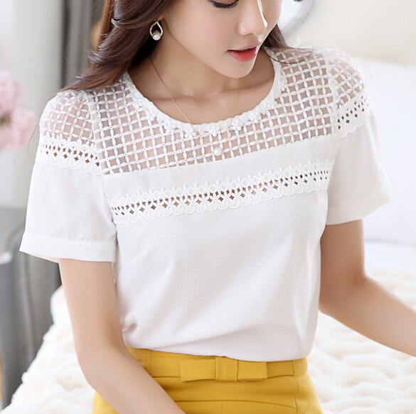 Compare Prices on 2015 Blusas Women White Blouses Women Tops ...