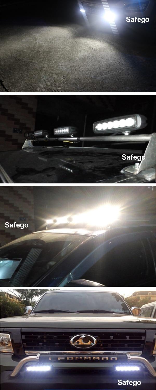 2шт Safego аўтамабіль асвятленне бар 18W - Аўтамабільныя фары - Фота 6