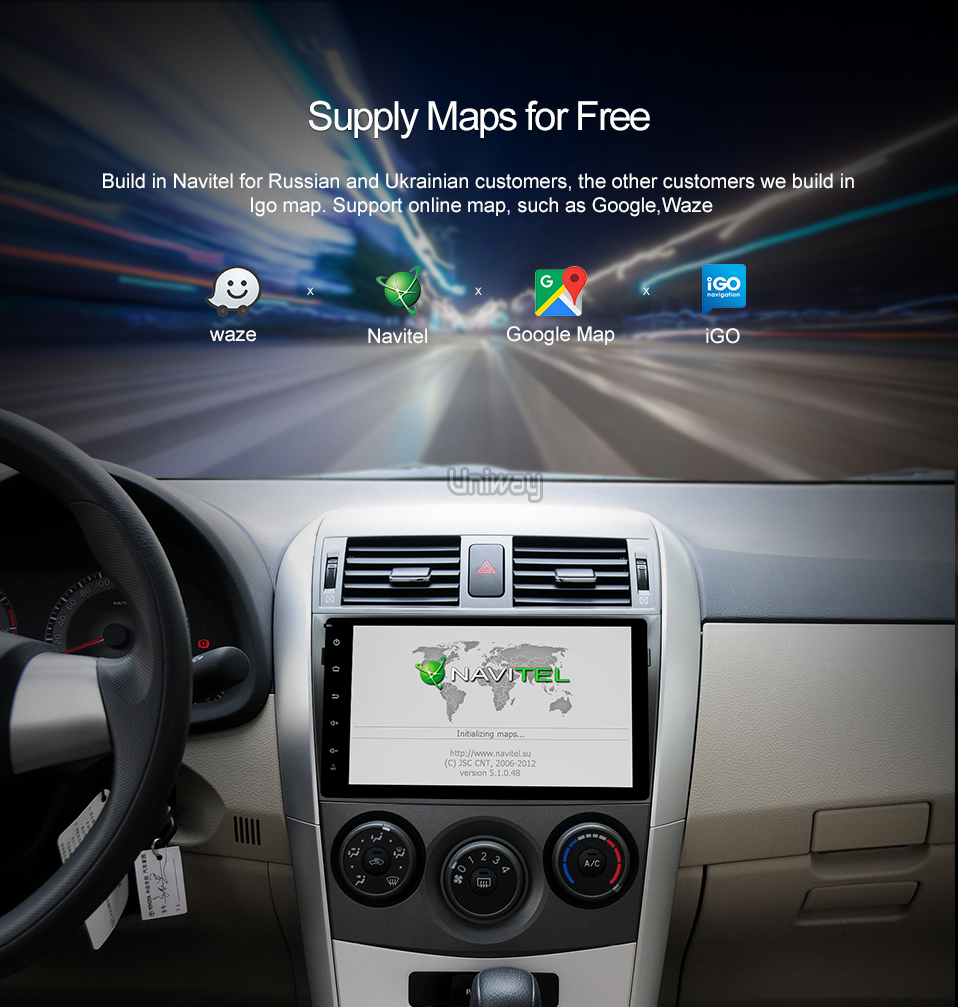 aeProduct AKLL9071 uniway android 71 car dvd