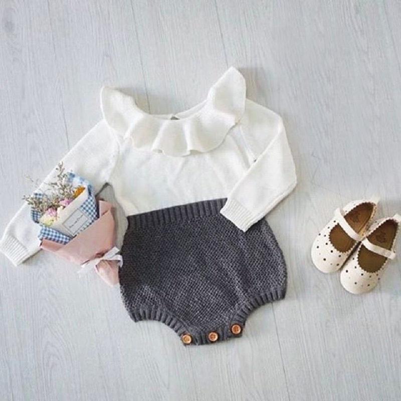 967fa56f1c7d Pudcoco Newborn Baby Girl Wool Blend Baby Romper Warm Knit Sweater ...