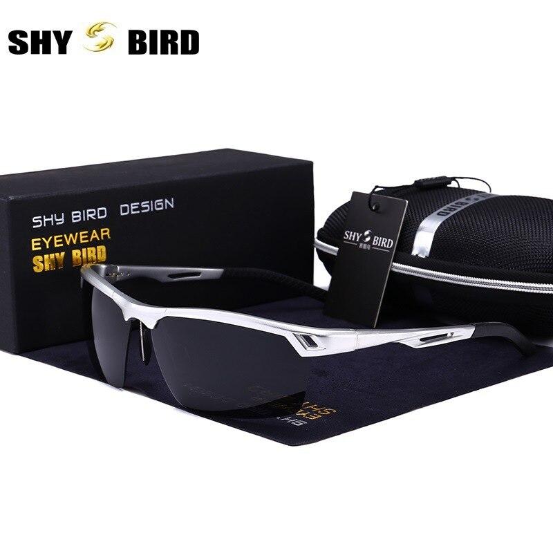 Semi-Rimless polarized sunglasses for men Luxury brand designer Aluminum Magnesium half frame sun glasses for driver