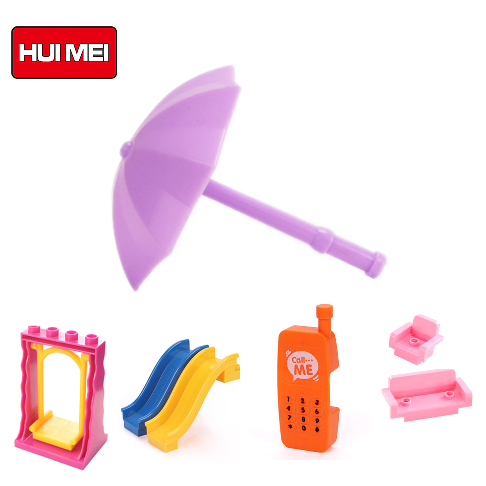 HUIMEI Play House Building Blocks 2017 New Self-locking Bricks Baby Enlighten educational Toy for Children compatible with duplo 24pcs plastic baby kid children house building blocks toy brick construction developmental toy set brain game baby play house