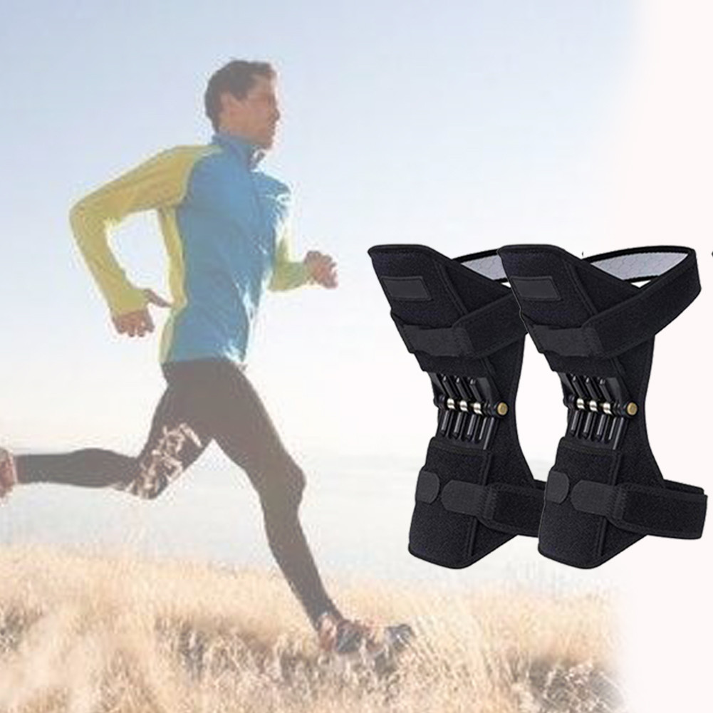 1 pair Joint Support Knee Pads Leg Kneepad Power Lift Joint Support Knee Pads Protective Sports Spring Knee Booster(China)