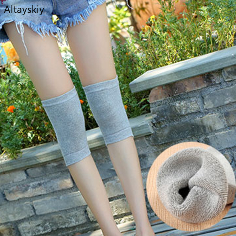 Knee Sleeve Women Soft Simple Solid All-match Thicker Leisure Womens Comfortable Breathable High Quality And Elasticity Chic Fit