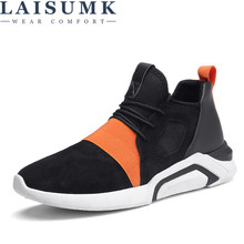 2019 LAISUMK Mens Casual Shoes Hot Sale Breathable Mesh Lightweight Flats Brand Trainers Male