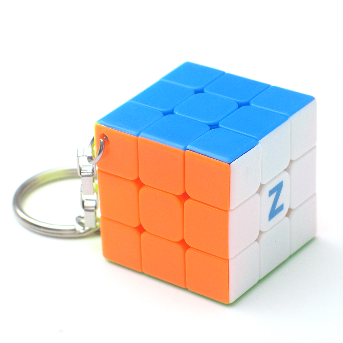 Z Key Chain Mini 3x3 Magic Cube Creative Cube Hang Decorations - Colorful