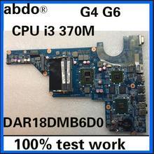 Abdo 655985-001 аккумулятор большой емкости для G6-1000 654117-001 аккумулятор большой емкости para hp G4 G6 Тетрадь материнская плата DAR18DMB6D0 i3-370M HM55 GT520M 1G Тесты работы